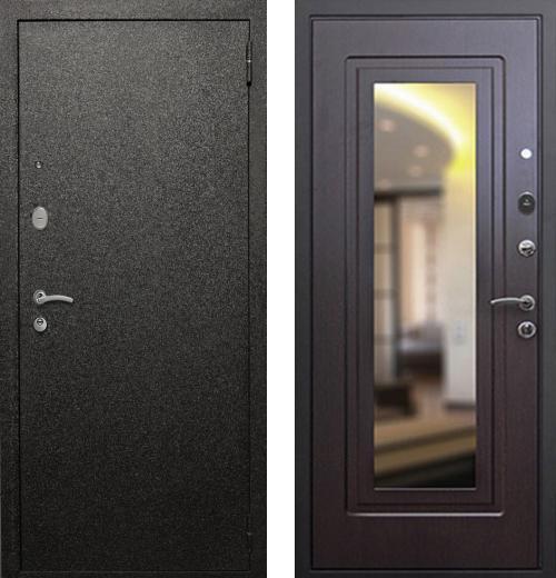 входные двери (стальные двери, металлические двери) DOORS007: дверь Rex Верона с зеркалом