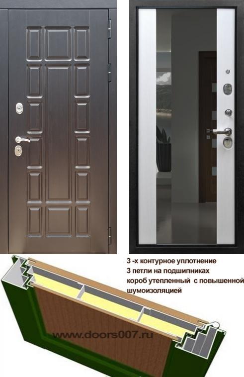 входные двери (стальные двери, металлические двери) DOORS007: дверь Rex 18 с зеркалом, Цвет