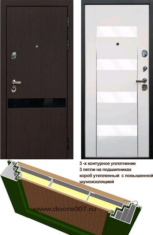 входные двери (стальные двери, металлические двери) DOORS007: дверь Rex Премьер Z2 Стекло белый триплекс