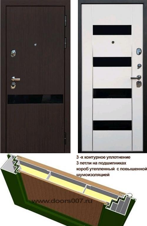 входные двери (стальные двери, металлические двери) DOORS007: дверь Rex Премьер Z2 Стекло черный триплекс
