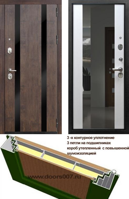 входные двери (стальные двери, металлические двери) DOORS007: дверь Rex Премьер Z3 с зеркалом