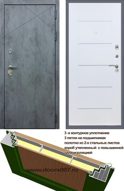 входные двери (стальные двери, металлические двери) DOORS007: дверь Rex 13 Бетон В-03