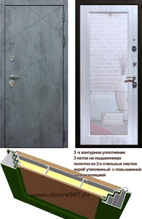 входные двери (стальные двери, металлические двери) DOORS007: дверь Rex 13 Бетон