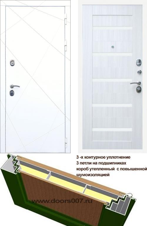входные двери (стальные двери, металлические двери) DOORS007: дверь Rex 13 Белый СБ-14 Белое стекло, Цвет