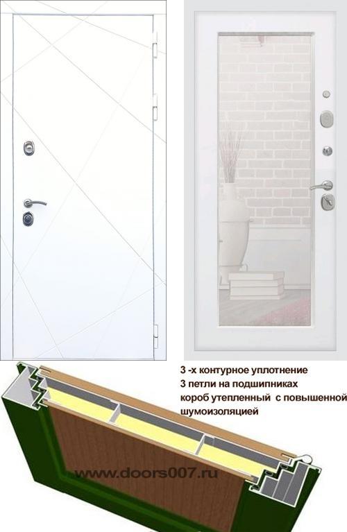 входные двери (стальные двери, металлические двери) DOORS007: дверь Rex 13 Белый Пастораль