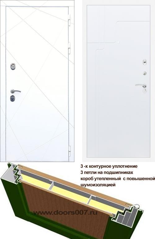 входные двери (стальные двери, металлические двери) DOORS007: дверь Rex 13 Белый ФЛ-246, Цвет