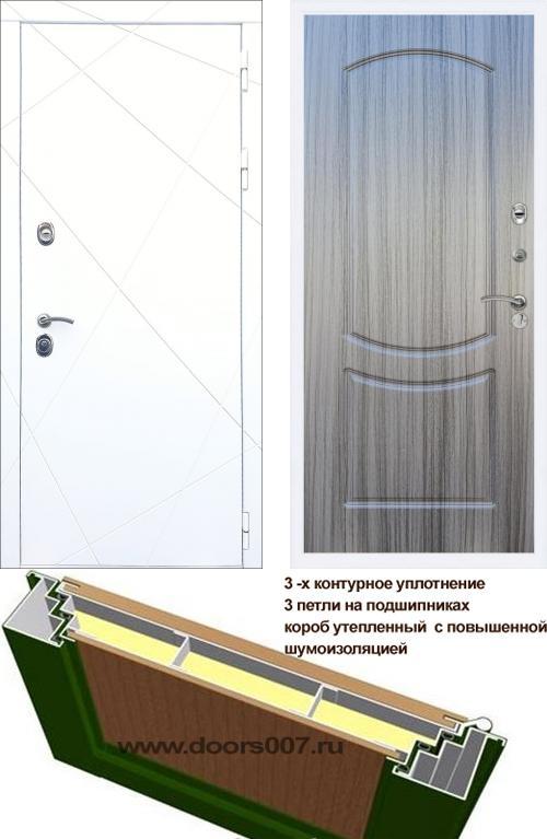 входные двери (стальные двери, металлические двери) DOORS007: дверь Rex 13 Белый ФЛ-123, Цвет