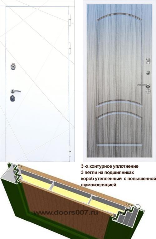 входные двери (стальные двери, металлические двери) DOORS007: дверь Rex 13 Белый ФЛ-126, Цвет