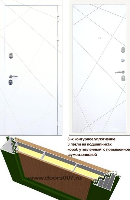 входные двери (стальные двери, металлические двери) DOORS007: дверь Rex 13 Белый ФЛ-291