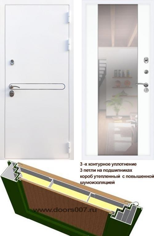 входные двери (стальные двери, металлические двери) DOORS007: дверь Rex 27 СБ-16 с зеркалом