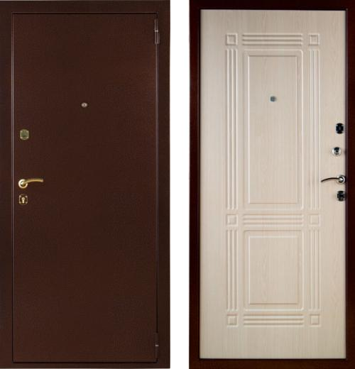 Металлические двери цвет беленый дуб