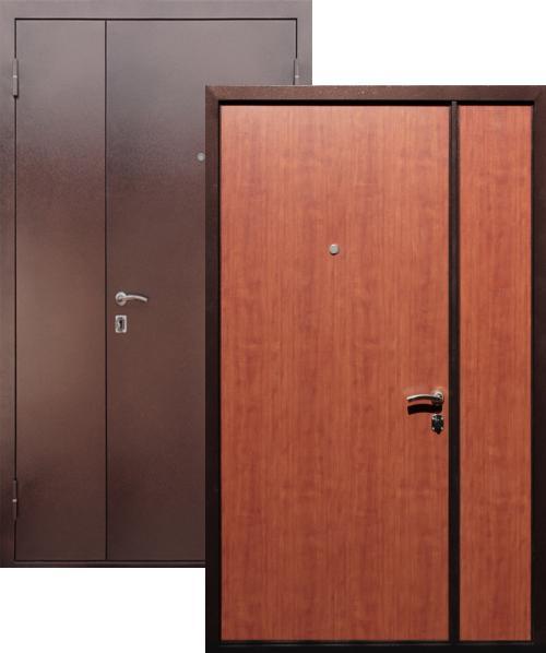 входные двери (стальные двери, металлические двери) DOORS007: дверь Страж Двустворчатая