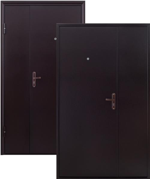 входные двери (стальные двери, металлические двери) DOORS007: дверь Страж Двустворчатая STEEL