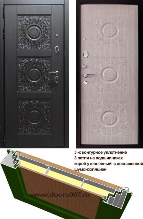 входные двери (стальные двери, металлические двери) DOORS007: дверь Страж Богема 3К