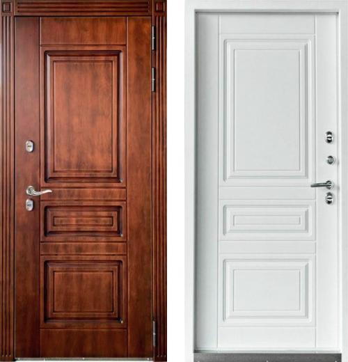 входные двери (стальные двери, металлические двери) DOORS007: дверь Страж Фанера 3К ТЕРМОРАЗРЫВ