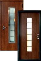 Входная дверь Страж Хаски 3К Шпон дуба ТЕРМОРАЗРЫВ (стальная дверь, металлическая дверь)