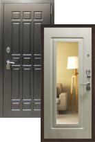 дверь Страж Квадро с зеркалом (металлическая дверь Страж Квадро с зеркалом, железная дверь)