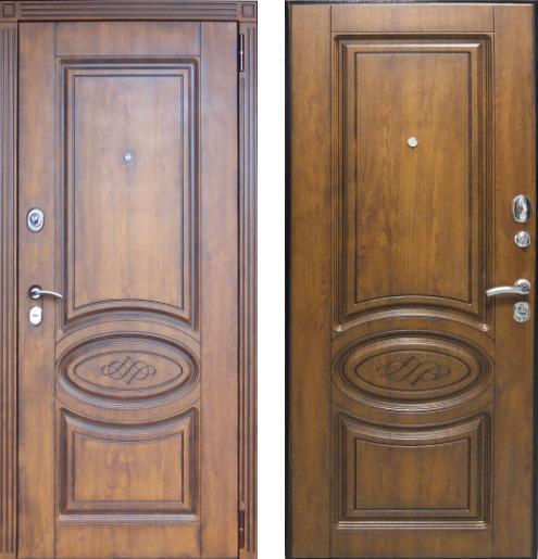 входные двери (стальные двери, металлические двери) DOORS007: дверь Страж Орион Винорит