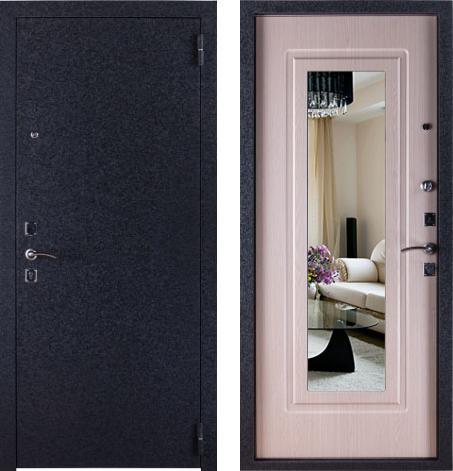 входные двери (стальные двери, металлические двери) DOORS007: дверь Страж 12 Триумф с зеркалом, Цвет
