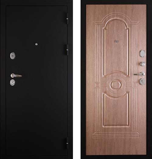 входные двери (стальные двери, металлические двери) DOORS007: дверь Сударь 3 Черный