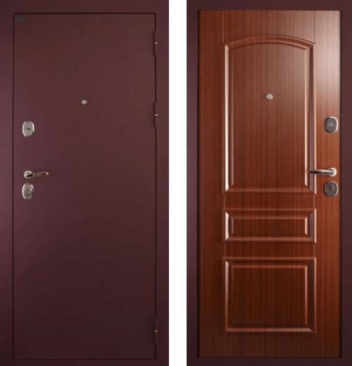 входные двери (стальные двери, металлические двери) DOORS007: дверь Сударь 3 Брусника