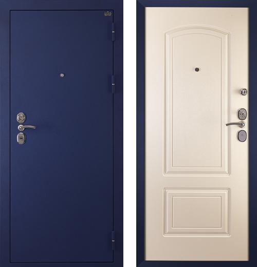 входные двери (стальные двери, металлические двери) DOORS007: дверь Сударь 4 Синий