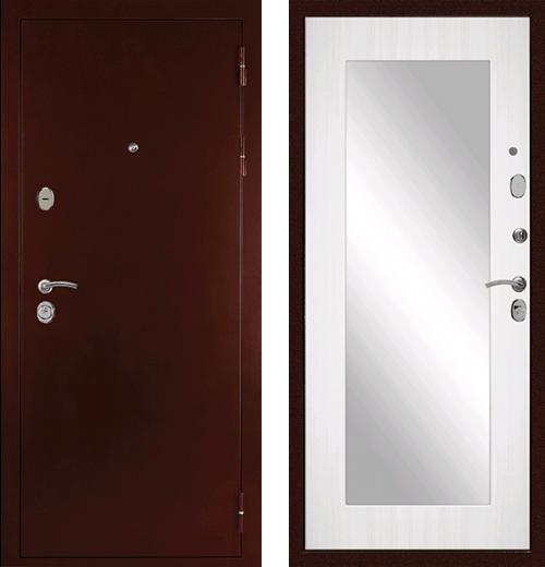 входные двери (стальные двери, металлические двери) DOORS007: дверь Сударь С-503 Зеркало