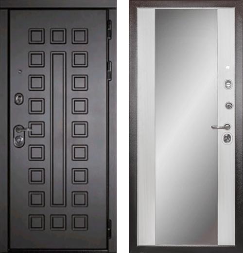 входные двери (стальные двери, металлические двери) DOORS007: дверь Diva МД-30 с зеркалом