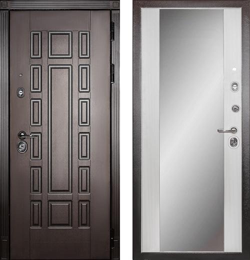 входные двери (стальные двери, металлические двери) DOORS007: дверь Сударь МД-38 с зеркалом