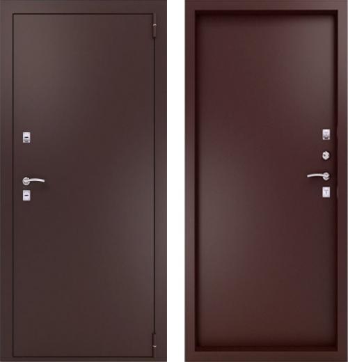 входные двери (стальные двери, металлические двери) DOORS007: дверь Термо TermoLIGHT