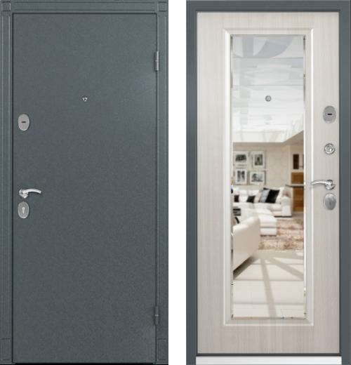 входные двери (стальные двери, металлические двери) DOORS007: дверь Торэкс СТЕЛ-05 с зеркалом, цвет