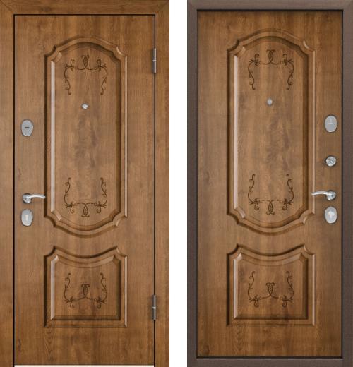 входные двери (стальные двери, металлические двери) DOORS007: дверь Торэкс СТЕЛ-РР ТП_КТ Дуб медовый TST-1