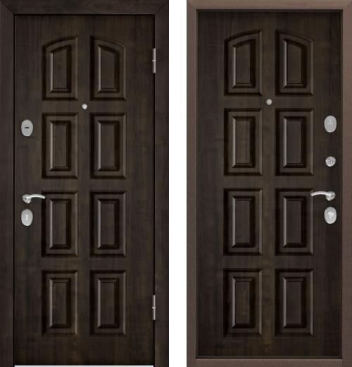 входные двери (стальные двери, металлические двери) DOORS007: дверь Торэкс СТЕЛ-РР КТ Дуб мореный TST-2