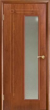 Межкомнатная дверь Вертикаль цвет Красное дерево