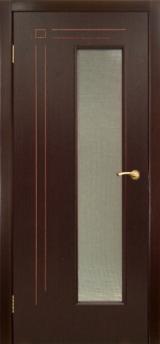Межкомнатная дверь Вертикаль цвет Венге
